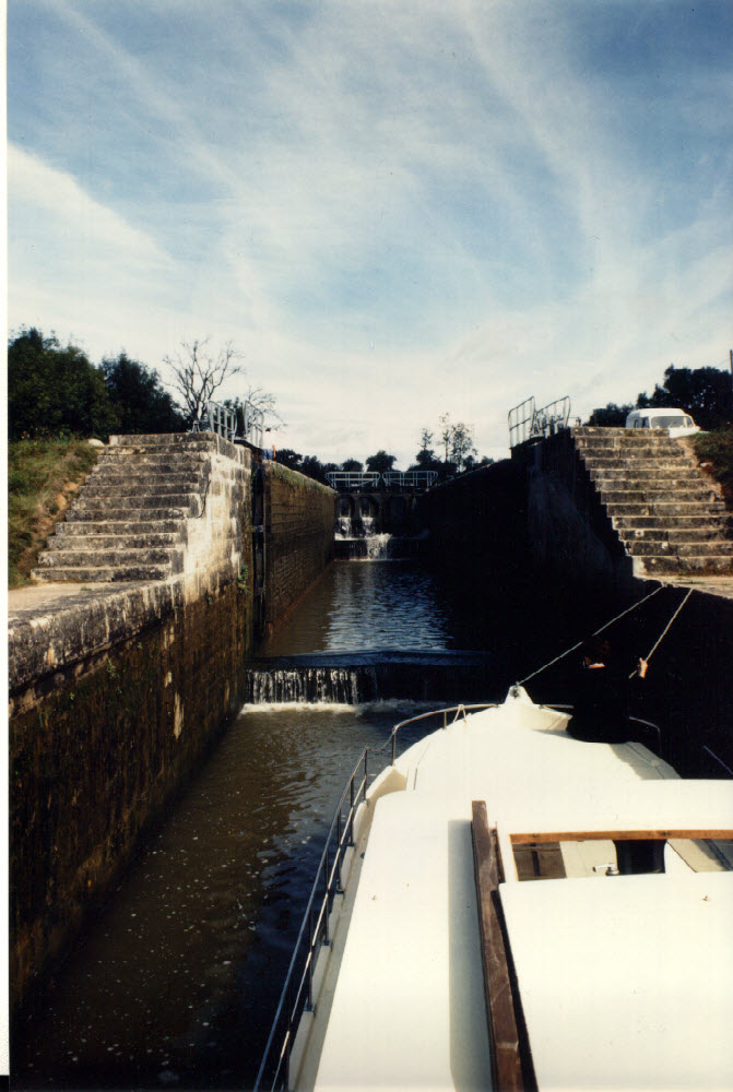 Coming into a lock